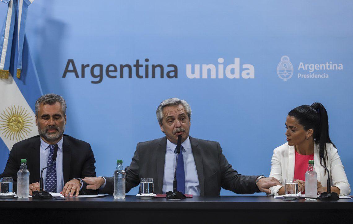 Alberto Fernández respaldó el aumento a los jubilados y criticó a los medios