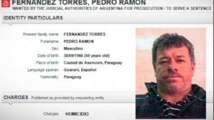 Fernández Torres tiene pedido de captura de Interpol pero todavía no fue encontrado.