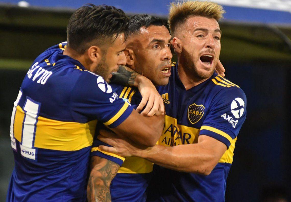 Boca hizo lo suyo: goleó a Godoy Cruz con un tanto de Tevez, un doblete de Salvio y un Villa encendido