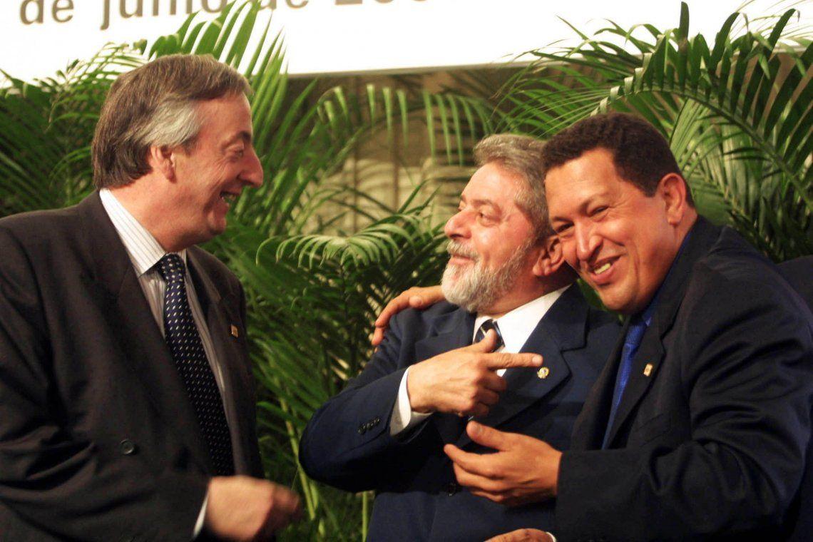 20 de junio de 2006. Nestor Kirchner junto a sus pares de Brasil