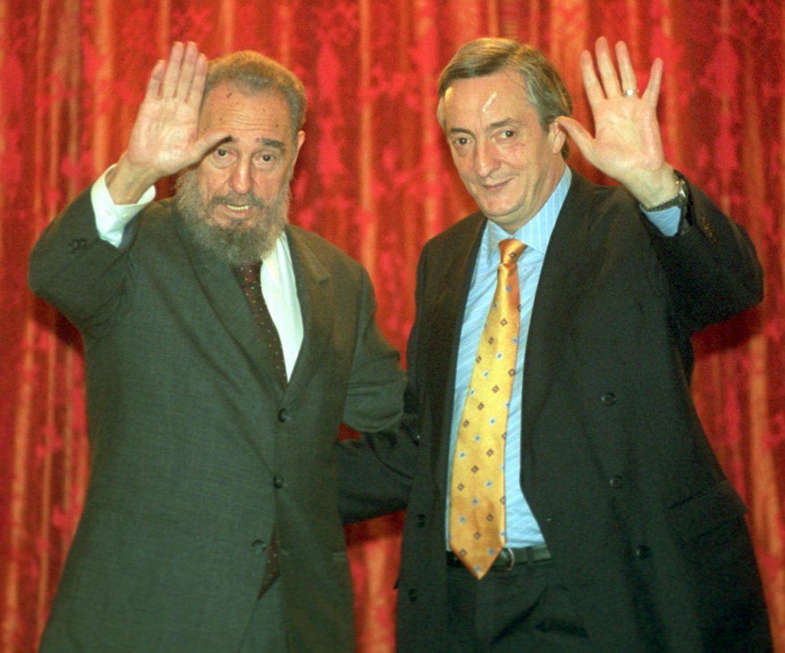 26 de mayo de 2003. El presidente Néstor Kirchner junto al presidente de Cuba