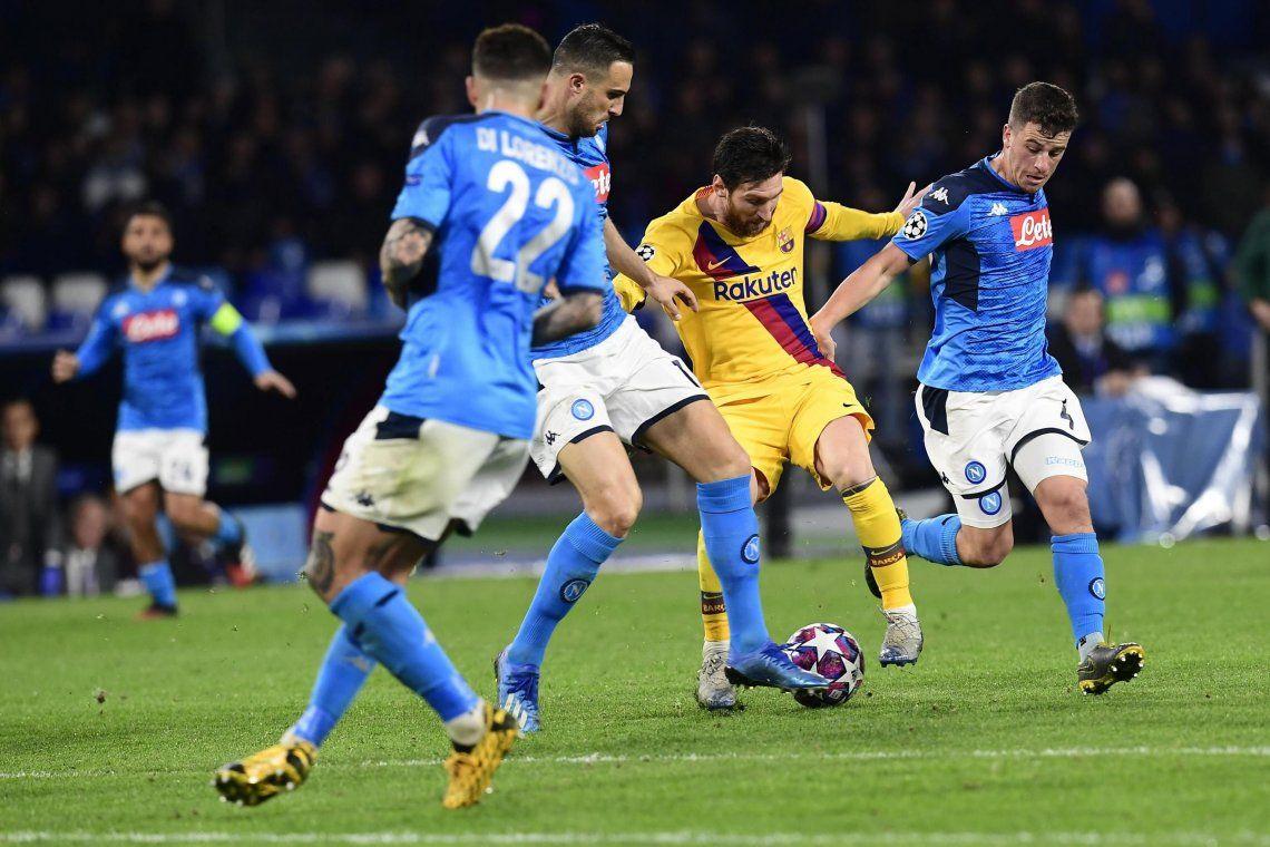 Champions League: el Barcelona de Lionel Messi se llevó un empate del templo de Maradona