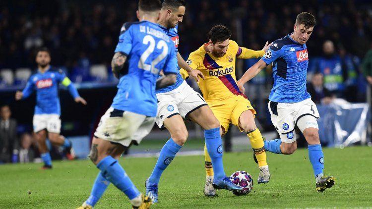 Barcelona igualó ante Napoli y definirá la serie en el Camp Nou
