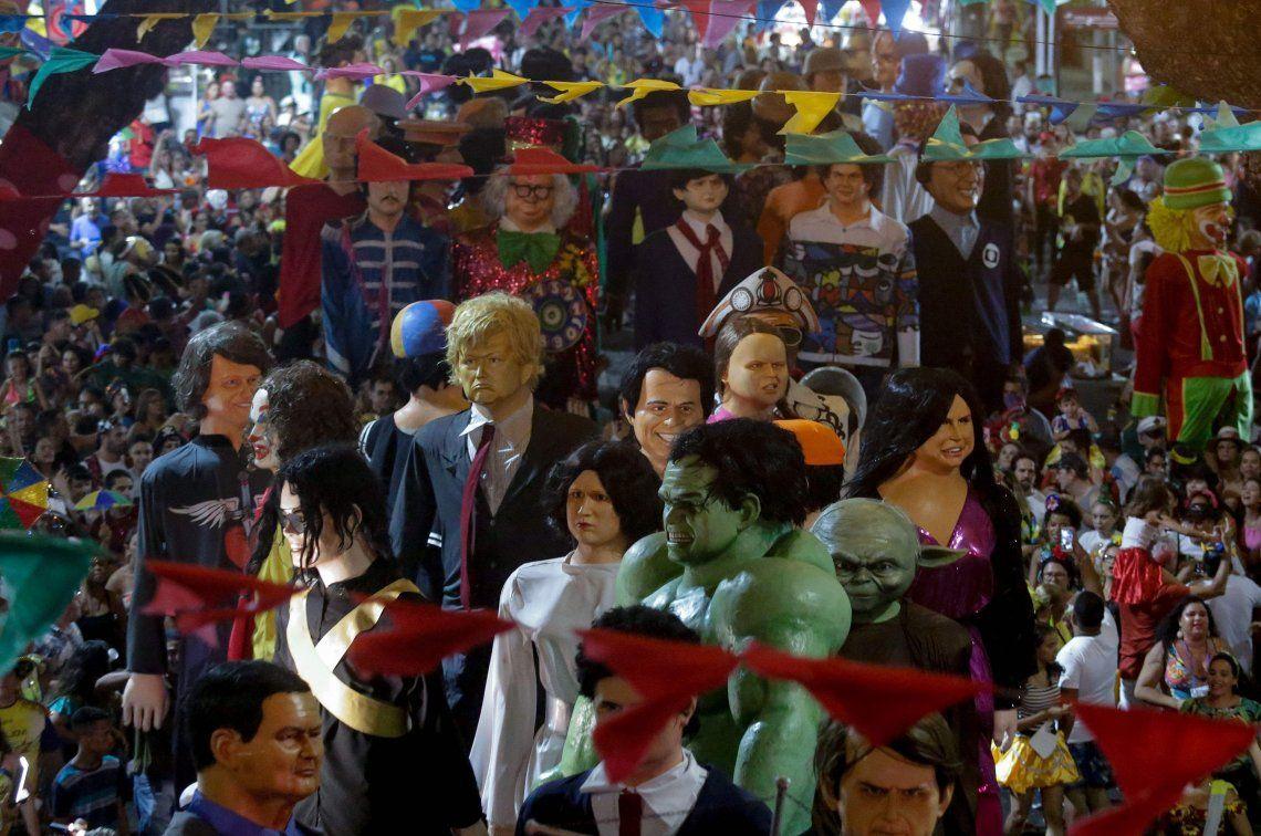 Joker, Trump y Greta Thunberg los protagonistas del Carnaval de Recife, Brasil