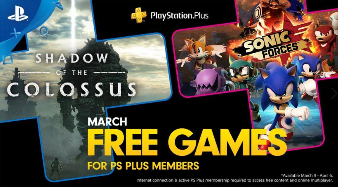 PS Plus: cuáles son los juegos gratis de marzo para PlayStation