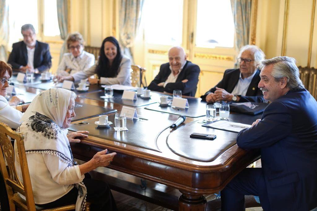 Alberto Fernández recibió a representantes de organismos de Derechos Humanos