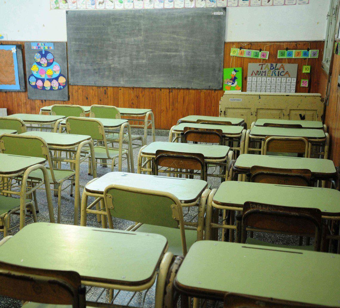 En cinco provincias no habrá clases y las aulas estarán vacías.
