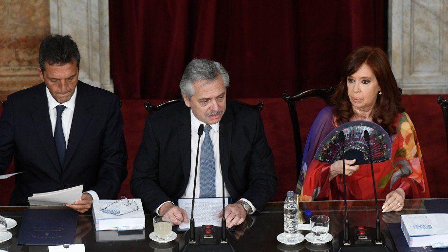 Deuda, aborto y reforma judicial, los ejes del mensaje de Alberto Fernández