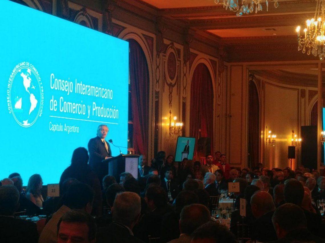 Alberto Fernandez con los empresarios: No es posible que los precios sigan subiendo