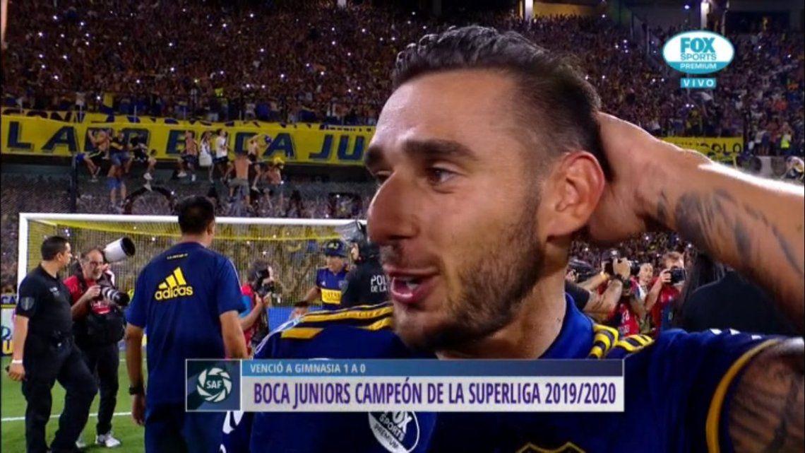 Eduardo Salvio festejó el título de Boca en la Superliga y se burló de River: Por algo les dicen gallinas