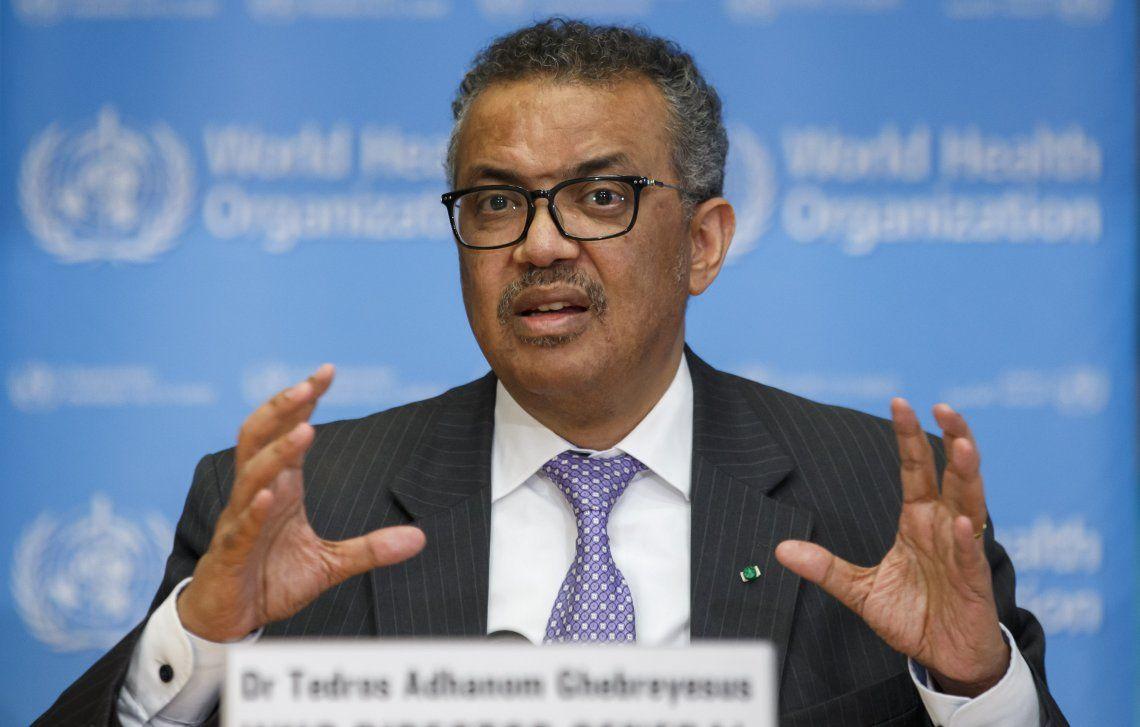 Tedros Adhanom Ghebreyesus brindó una conferencia de prensa para dar detalles de la pandemia.