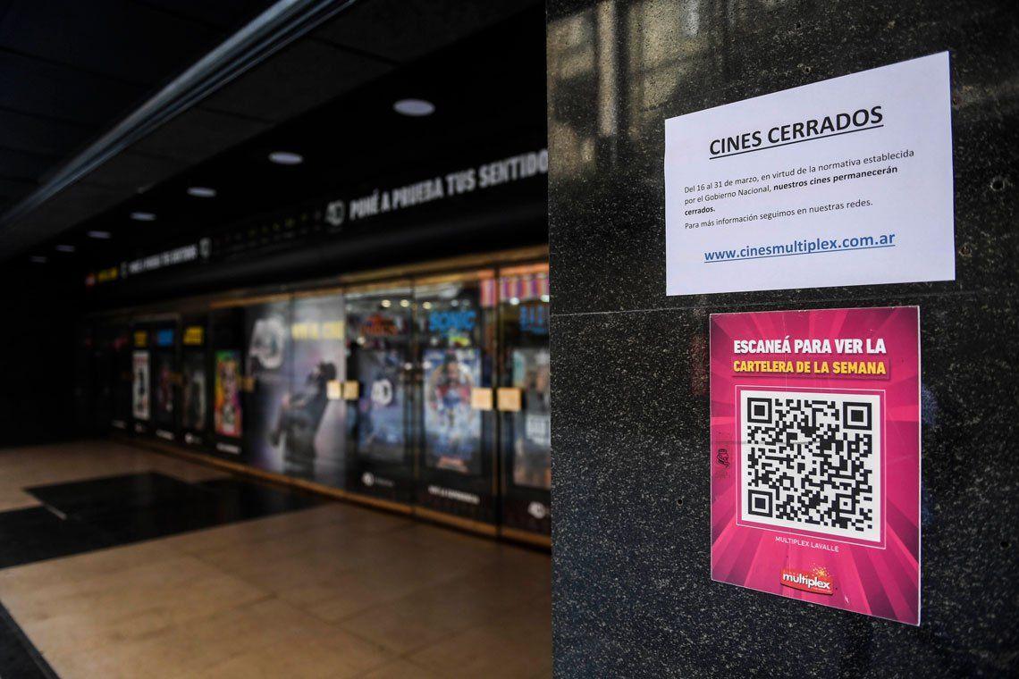 Los cines porteños cancelaron sus funciones