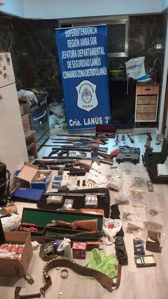 Hallan un arsenal y detienen a una pareja que alquilaba armas a bandas delictivas