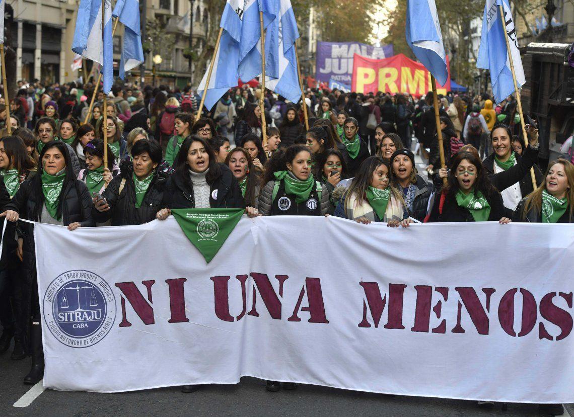 Una de las tantas marchas contra la violencia de género.