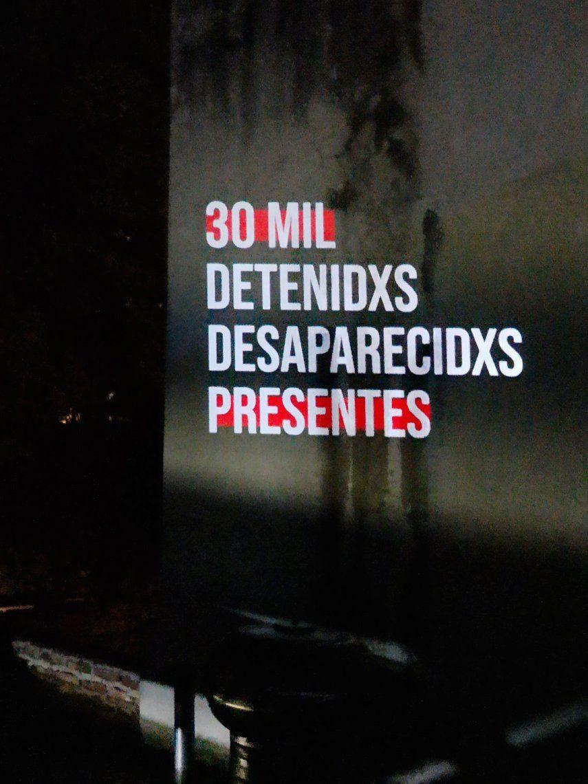 Proyectorazo por el Día de la Memoria, la Verdad y la Justicia