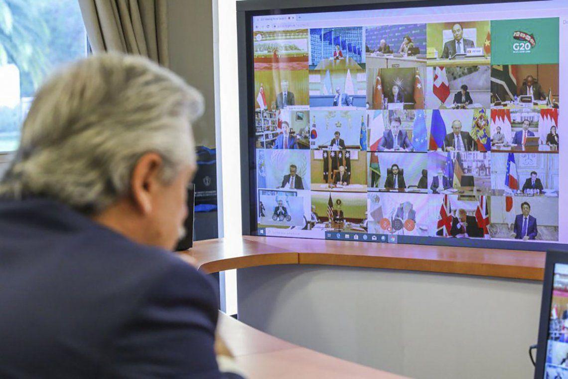 Alberto Fernández pidió ante el G20 un Fondo de Emergencia Humanitaria por el Coronavirus