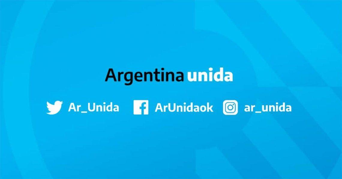 El Gobierno lanzó Argentina Unida, un canal en redes sociales con la información oficial sobre Coronavirus