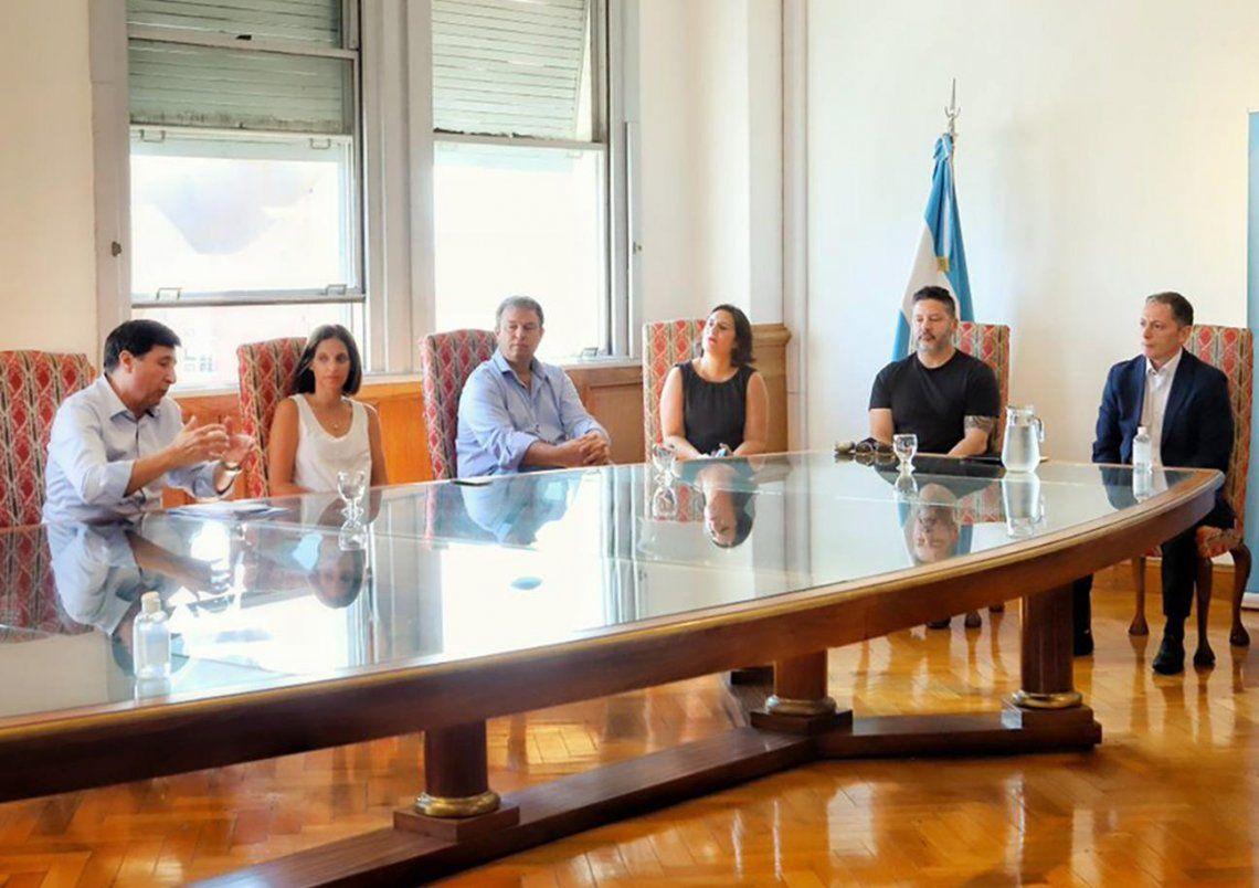La reunión que matuvo el ministro de Desarrollo Social