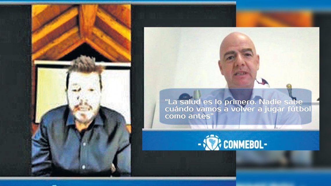 Tinelli, la crisis del fútbol y el voto de AFA en Conmebol