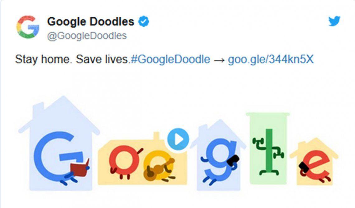 El nuevo doodle animado de Google inspirado en la cuarentena