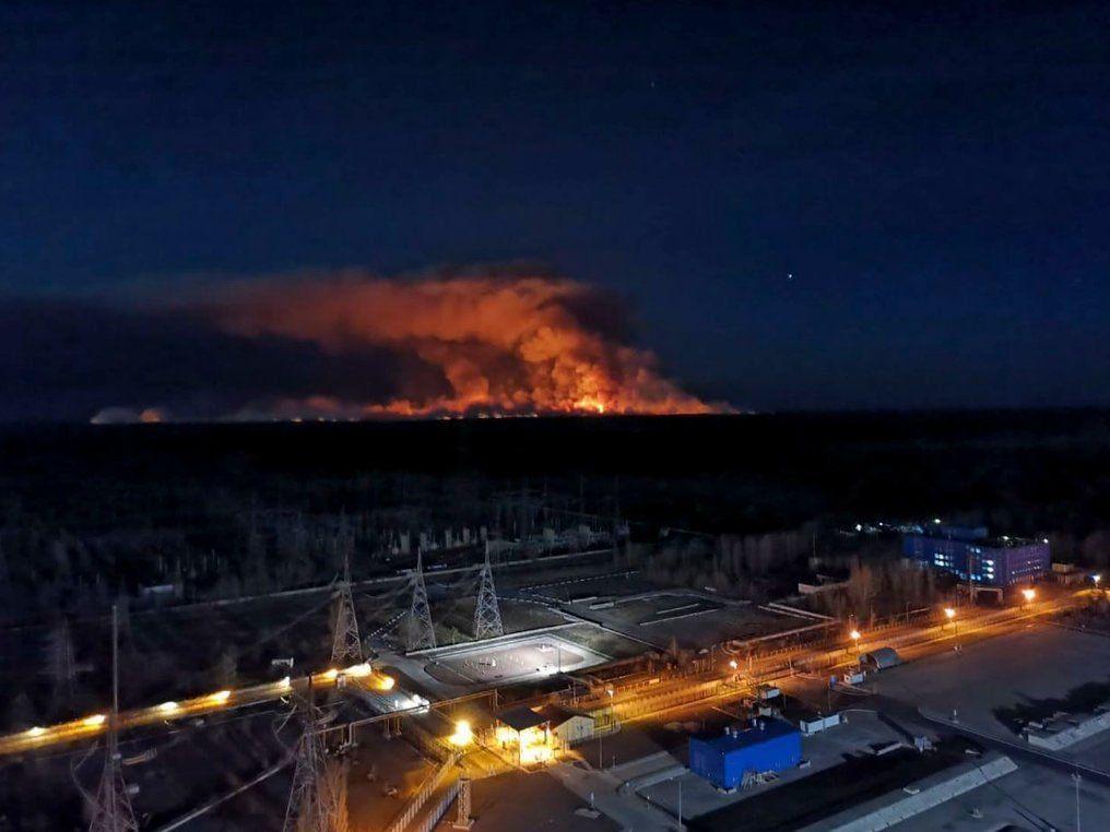 Un incendio se acerca a Chernobil