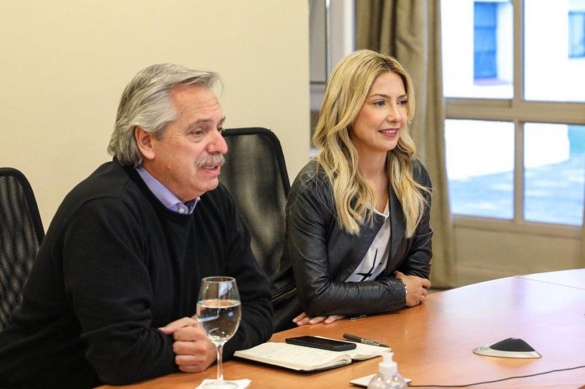 Alberto Fernandez y Fabiola Yañez sorprendieron a un comedor comunitario