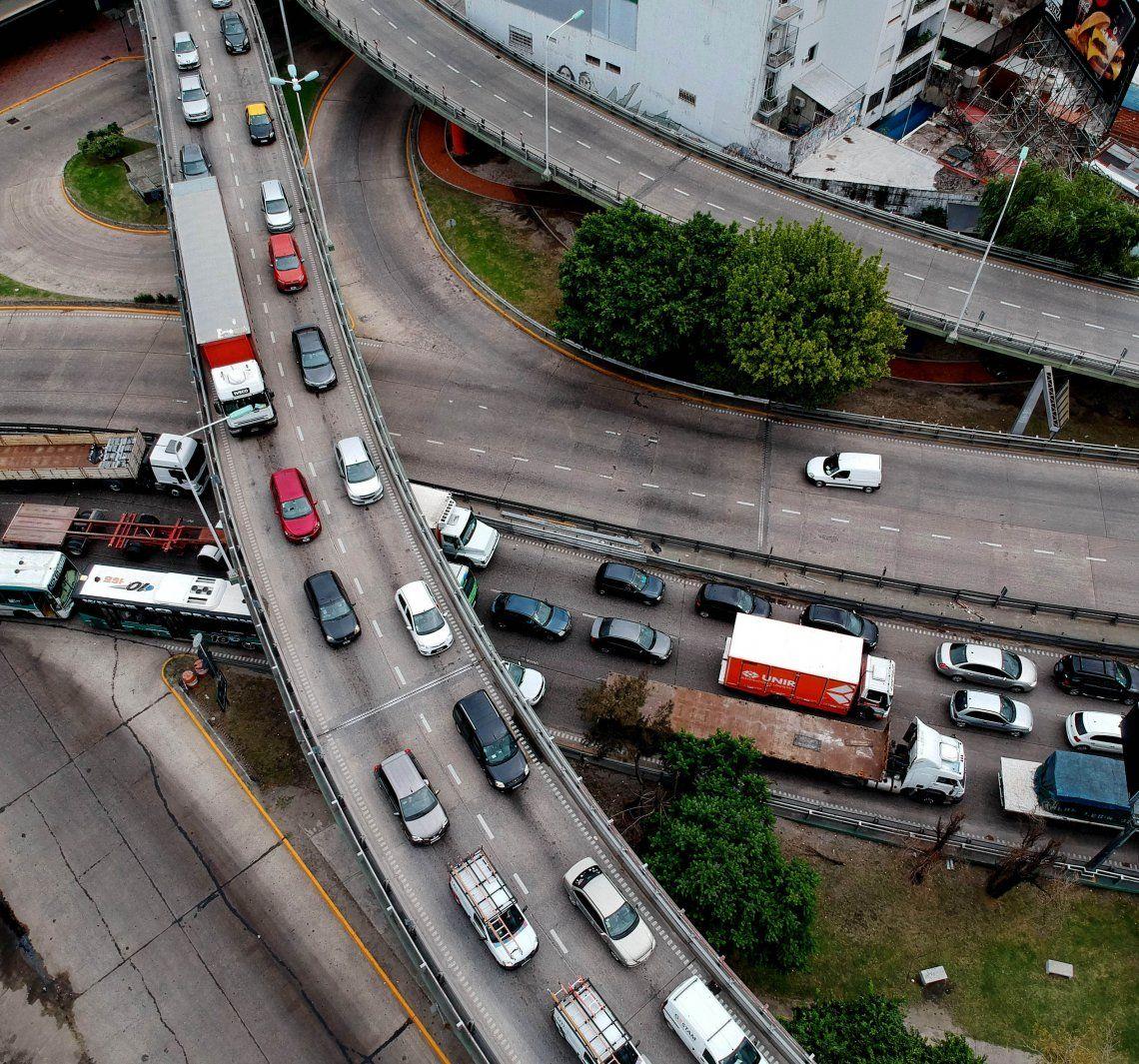 Arrancó el nuevo esquema de circulación en los accesos a la ciudad de Buenos Aires