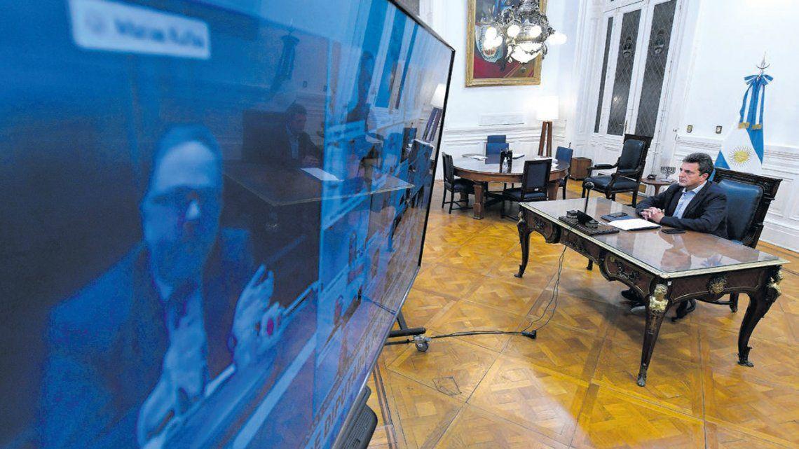Diputados avanzan en un acuerdo de protocolo para las sesiones virtuales