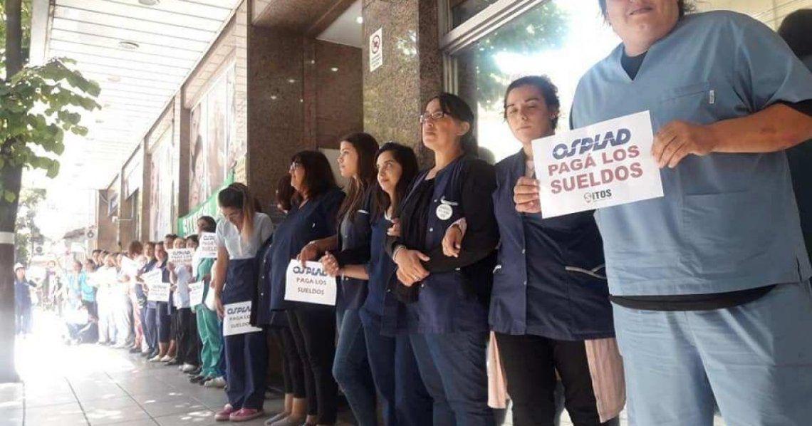 Osplad arranca un paro nacional por salarios impagos