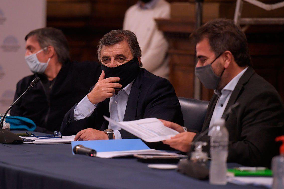 En fotos: reunión en la Cámara de Diputados para aprobar sesiones virtuales