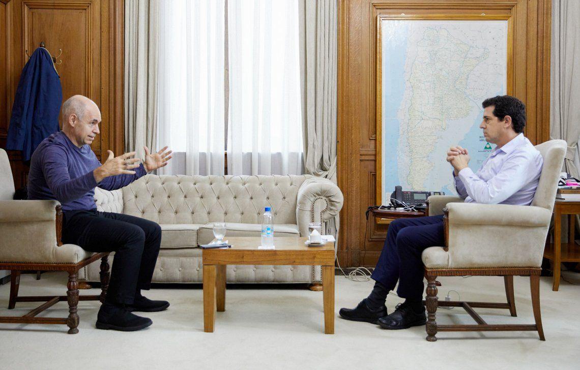 Rodríguez Larreta y Wado de Pedro acordaron ayer seguir evaluando la intrigante situación en la zona metropolitana.