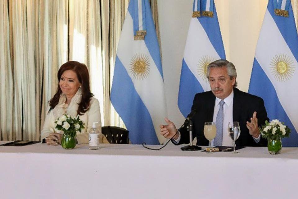 Alberto Fernández y Cristina Kirchner se reunieron en Olivos