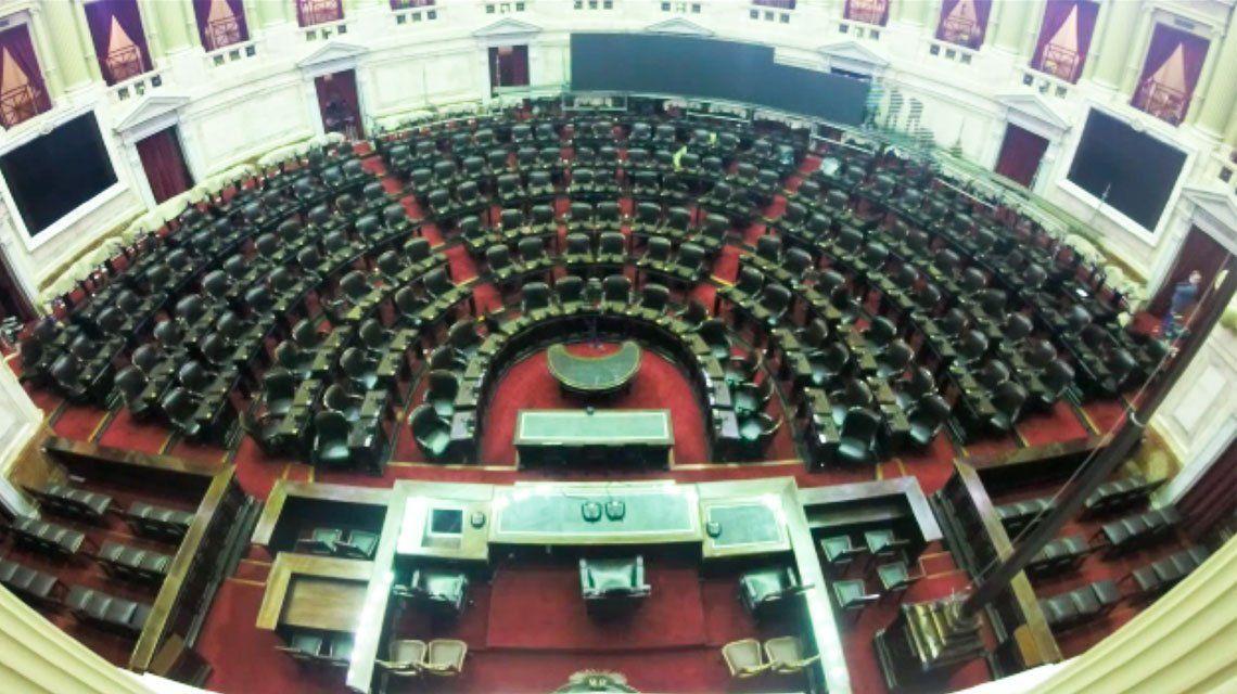 Así se armó la Cámara de Diputados para la sesión virtual