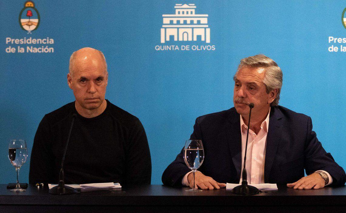 Alberto Fernández analizó con Rodríguez Larreta en la quinta presidencial las nuevas medidas a implementar.
