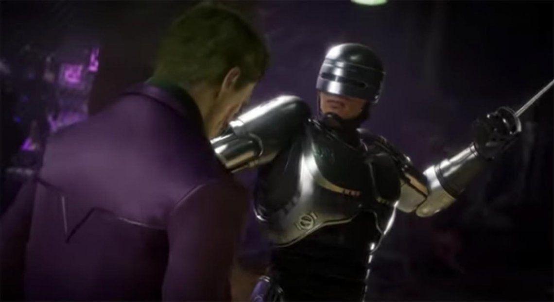 Ese Robocop sí se deja querer: mirá su impactante llegada a Mortal Kombat 11
