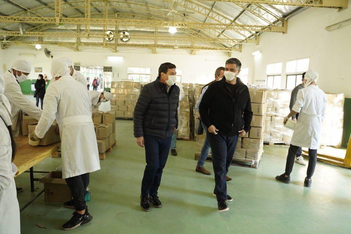 Jorge Macri y Arroyo, en el Centro Logístico de Asistencia Alimentaria