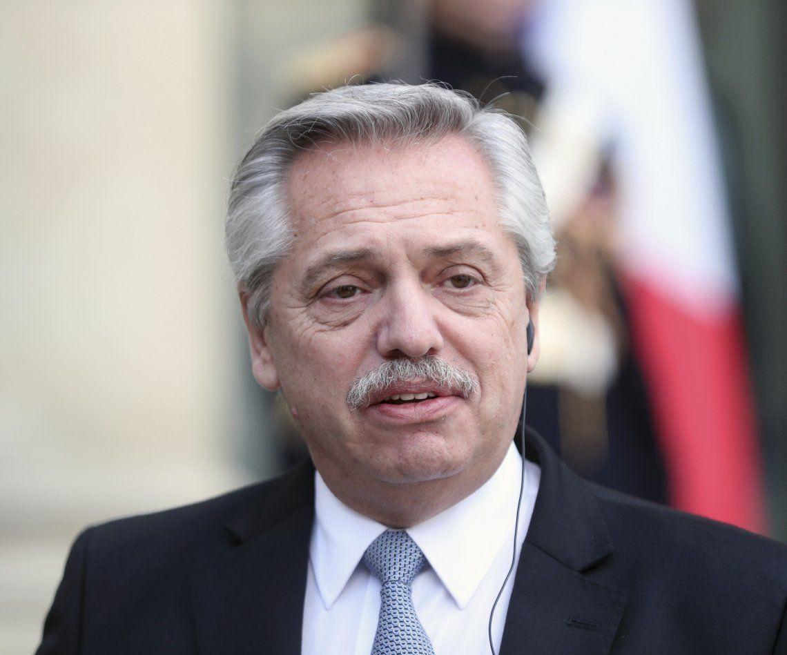 Presidente de la Nación Alberto Fernández.