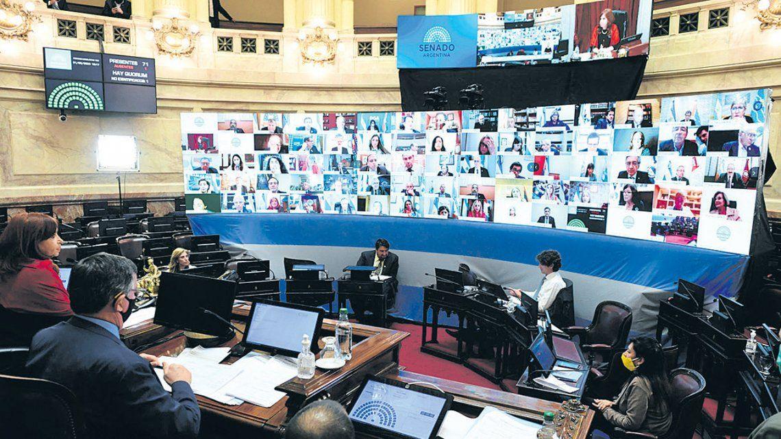 Senado: se aprobaron por primera vez leyes de manera virtual