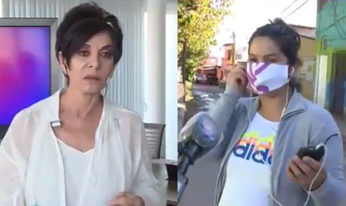 Video | Mónica Gutiérrez le preguntó a una joven si estaba embarazada y la respuesta se viralizó: No, no, estoy gordita