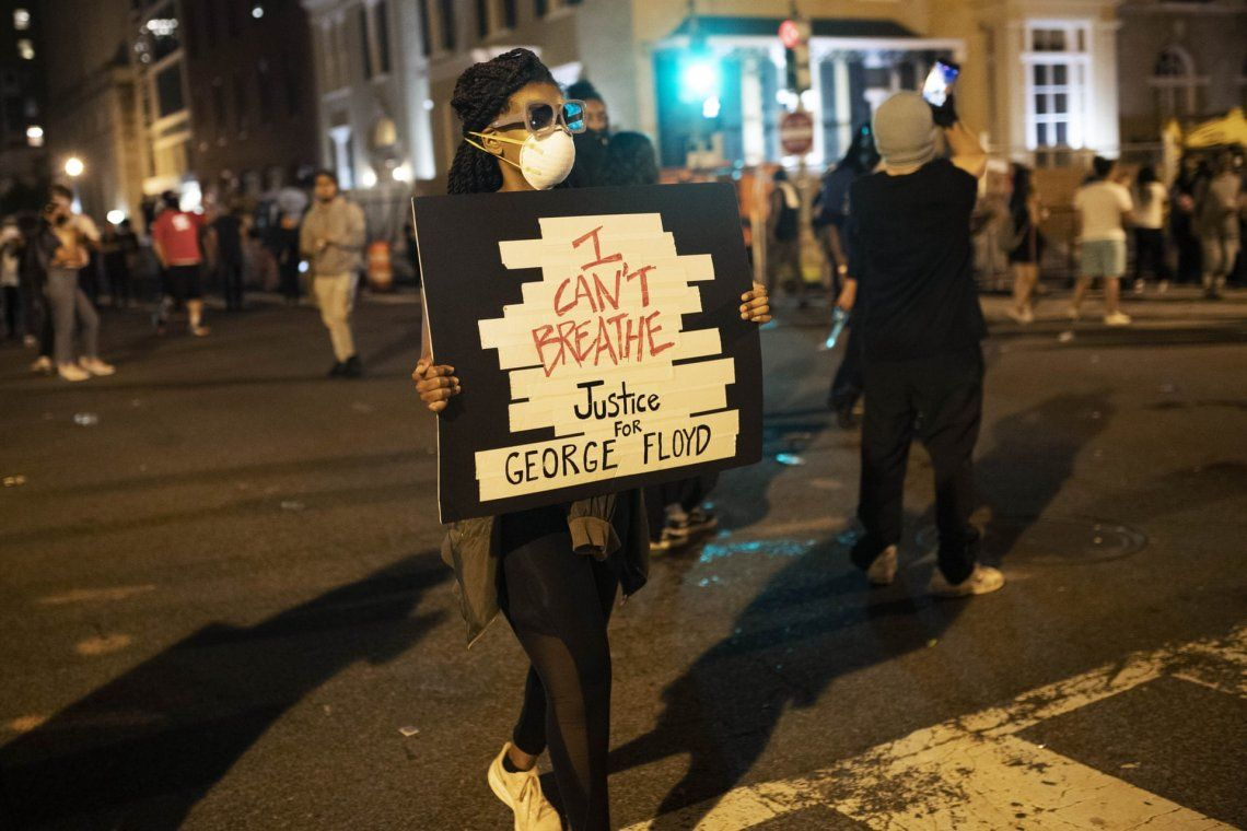 En fotos: sexto día consecutivo de protesta tras el asesinato de George Floyd