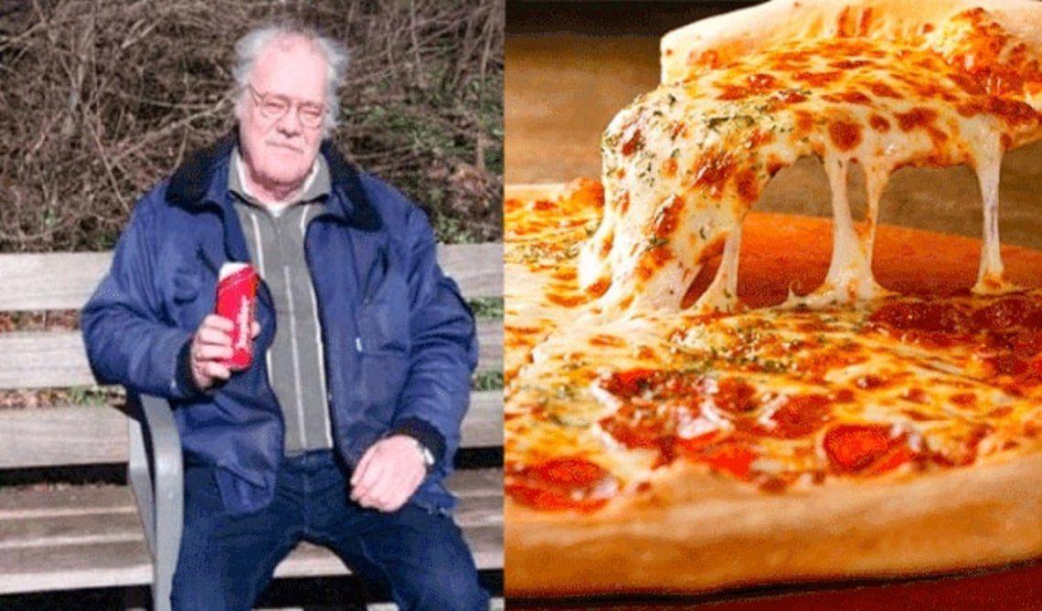 Grandes de muzza: un hombre es acosado con pizzas desde hace 9 años
