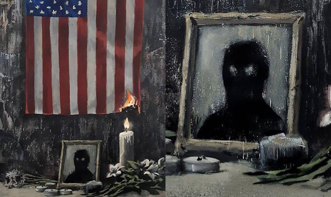 Banksy homenajeó a George Floyd con una pintura y un texto combativo