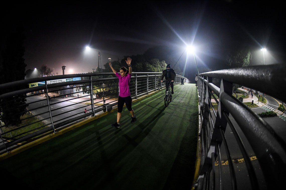 En fotos: los runners llenaron las calles y avenidas cercanas a parques
