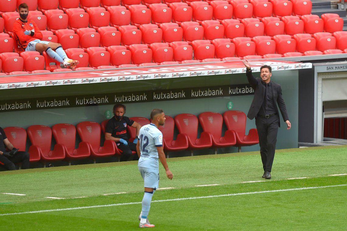 El Atlético del Cholo Simeone rescató un empate ante el Bilbao y se aleja de la punta