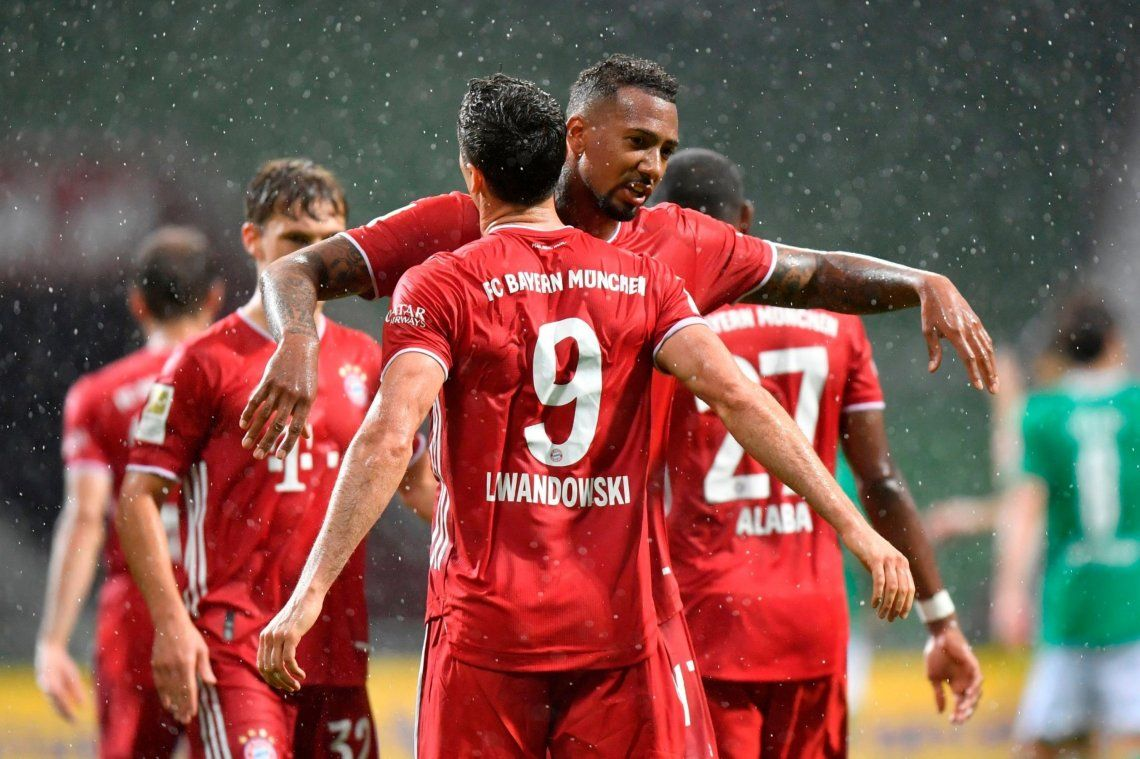 Con un gol de Lewandowski, Bayern Munich conquistó la Bundesliga por octava temporada consecutiva