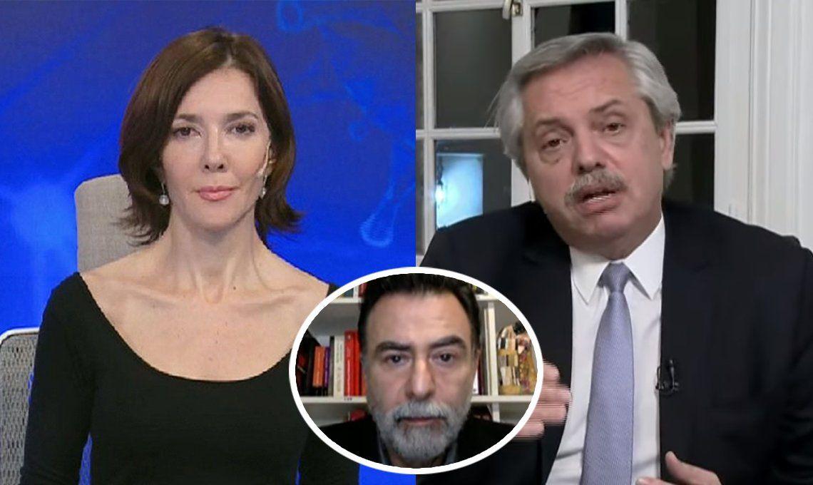 Reynaldo Sietecase puso paños fríos a la polémica que desató el cruce entre Cristina Pérez y Alberto Fernández