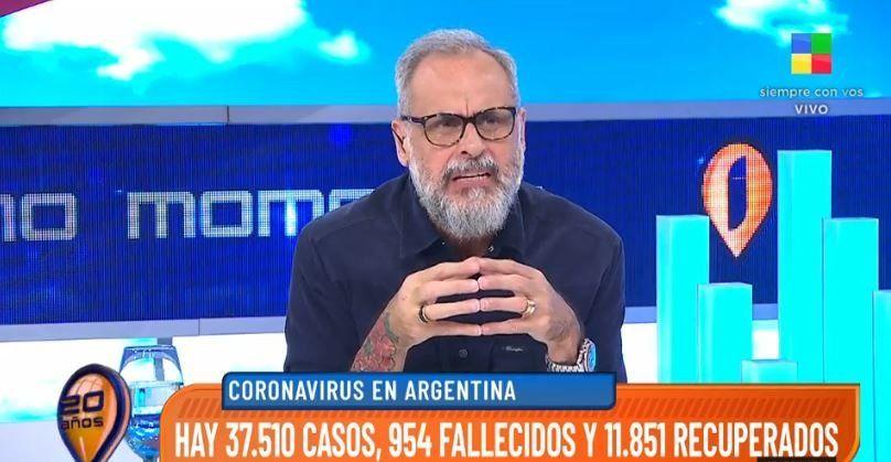 Jorge Rial se va de Intrusos por los contagios en la TV: Me guardo en casa por mí y mis compañeros