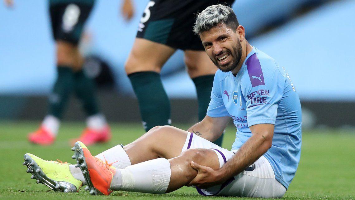 Kun Agüero: todo parece indicar que el delantero se rompió los meniscos de la rodilla izquierda