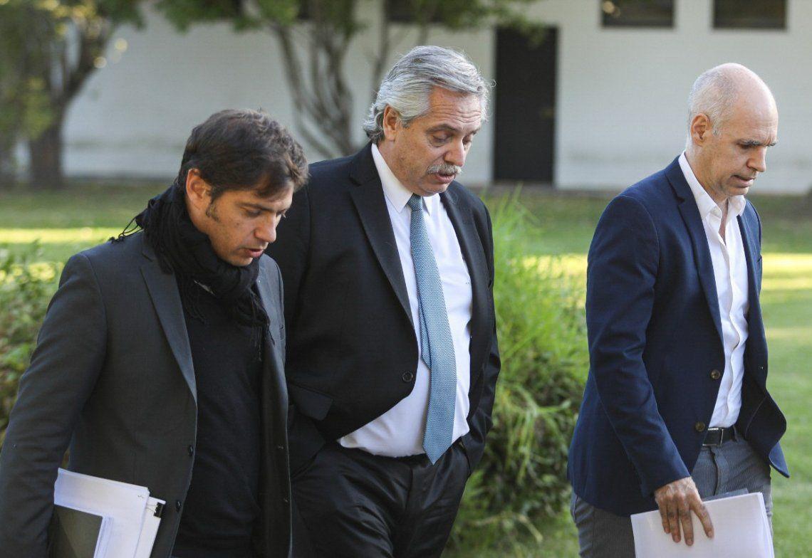 El Presidente volverá a reunirse con Kicillof y Rodríguez Larreta y luego hará los anuncios.
