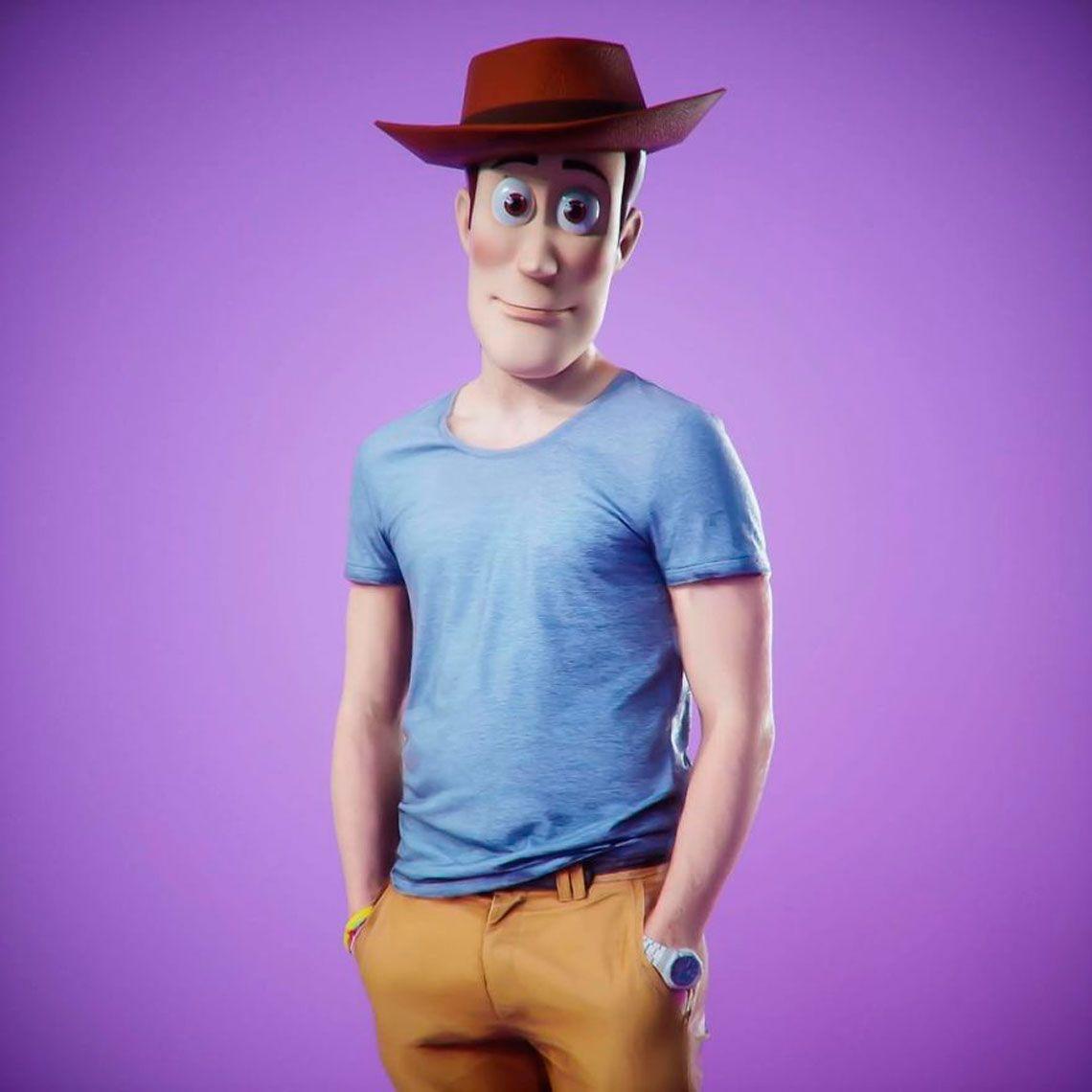 Así se verían Woody, Buzz Lightyear, Homero y Súper Mario en la vida real